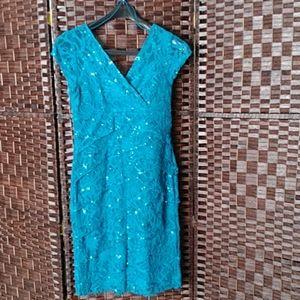 Scarlett Nite Turquoise Party Dress Sz 8